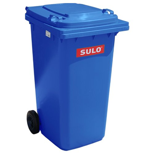 SULO 2-Rad Behältersysteme 240 L blau (Blau Hoch Mülltonne)