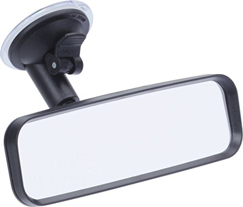 KRS - SP4 - Glatte, nicht gewölbte Spiegelfläche aus Glas, iMotion Beifahrer Rückspiegel mit verstellbarem Hals, Saugfuß Kleiner Rückspiegel, Innenspiegel als Zusatz-Spiegel mit Schwanenhals Zusatzspiegel