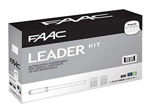 Faac Leader Kit 230V automazione oleodinamica per cancelli e portoni a battente con lampeggiatore e fotocellule - Max anta 1,8 m - 105633445 230V