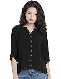 ff6d60d35a99e5 THE LUGAI FASHION Cotton Womens Short Top for Daily Stylish Casual and  Western Wear Tops for