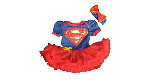Supergirl Superman 6-9. Monate Caped Baby Kleinkind Mädchen Spielanzug Party Spiel Kleid (Fancy Dress Kostüme Gute)