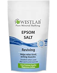 Westlab Epsom Salt Resealable Stand Up Pouch, 1 kg - Pack of 1