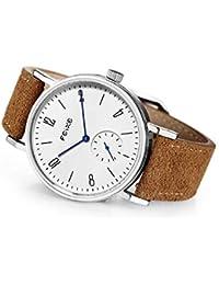 FEICE Reloj Mecánico Automático para Hombres Reloj Bauhaus Minimalista Analógico Relojes de Pulsera Unisex Reloj Zafiro