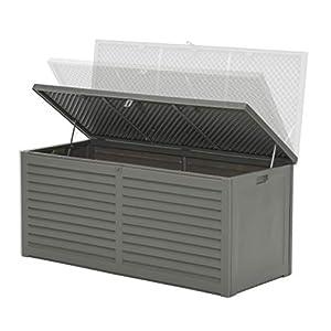 Garden Impressions Voll Kunststoff Aufbewahrungsbox Jersey 680 Liter mit Hubautomatik