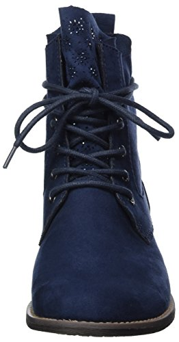Marco Tozzi Damen 25105 Combat Boots Blau (Navy)