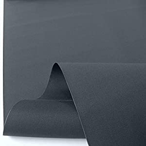 TOLKO Markisen-Stoffe einfarbig WASSERDICHT UV-beständig Meterware am Stück (Anthrazit)
