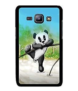 Fuson 2D Printed Cartoon Designer back case cover for Samsung Galaxy J1 - D4473