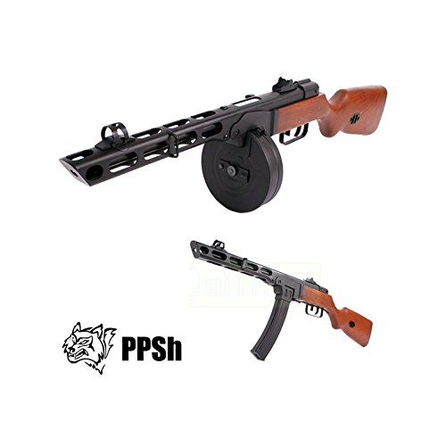 S&T Airsoft Snow Wolf PPSH 41 Semi-Automatique/Automatique Tout Métal Et Bois WW2 (0.5 Joule)