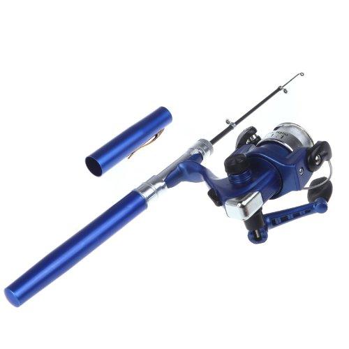 Docooler Mini Stift Angelrute/Feder Angelrute mit Angelrolle, Material: Aluminiumlegierung, Länge: 20cm-96.2cm Test
