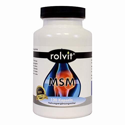 MSM - 120 VEGANE Kapseln á 800mg, hochdosiert, gegen Gelenkschmerzen, Tagesdosis 2400mg, Methylsulfonylmethan, Organischer Schwefel, Made in Germany -