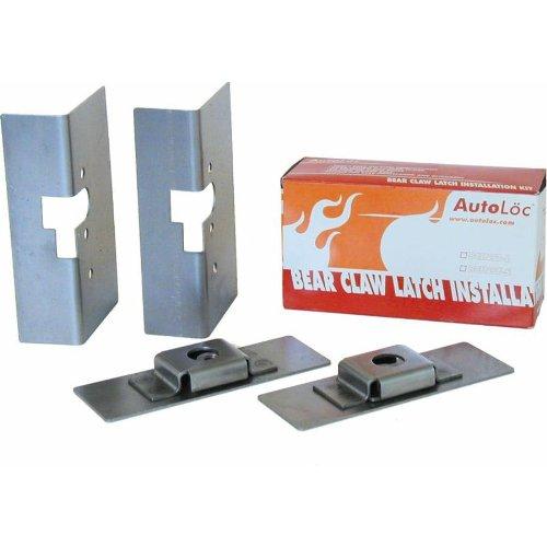 AutoLoc BCINST-L Large Bear Claw Door Latch Install Kit by Autoloc - Autoloc Bear Claw Latch