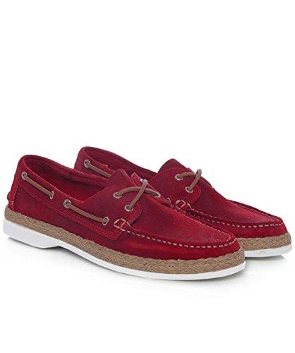 Campobello Leder-Hammer-Bootsschuhe Rot Rot