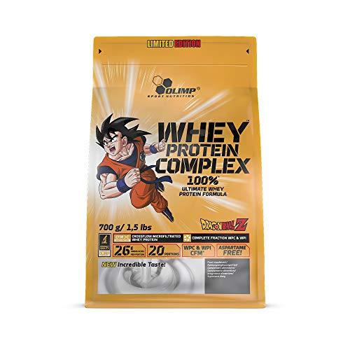 Olimp Whey Protein Complex 100% Limited Edition - Dragon Ball Z | Truffle mit Orange Geschmack | 700 g | 20 Portionen | Powder Eiweiß-Pulver | BCAA-Aminosäuren | mit Süßstoffen, aspartamfrei