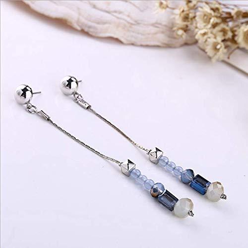 Tide Bad Set (New Tide Perlen Anhänger Ohrringe Ohrringe Göttin Temperament Mode Persönlichkeit wilden Netz rote Ohrringe)