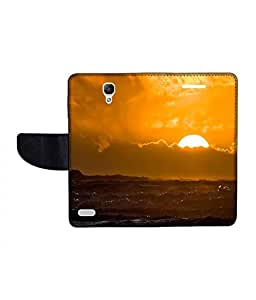 KolorEdge Printed Flip Cover For Xiaomi Redmi Note Prime Multicolor - (1479-55KeMLogo09473RedmiNotePrime)