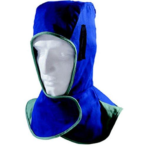 WELDAS Fire Fox Kopf- und Nackenschutz Schweissermütze Schweißerkappe, Farbe: Blau