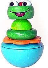 Hess 15704 - Juguete de madera BounceBack Wobbel, juguete rana