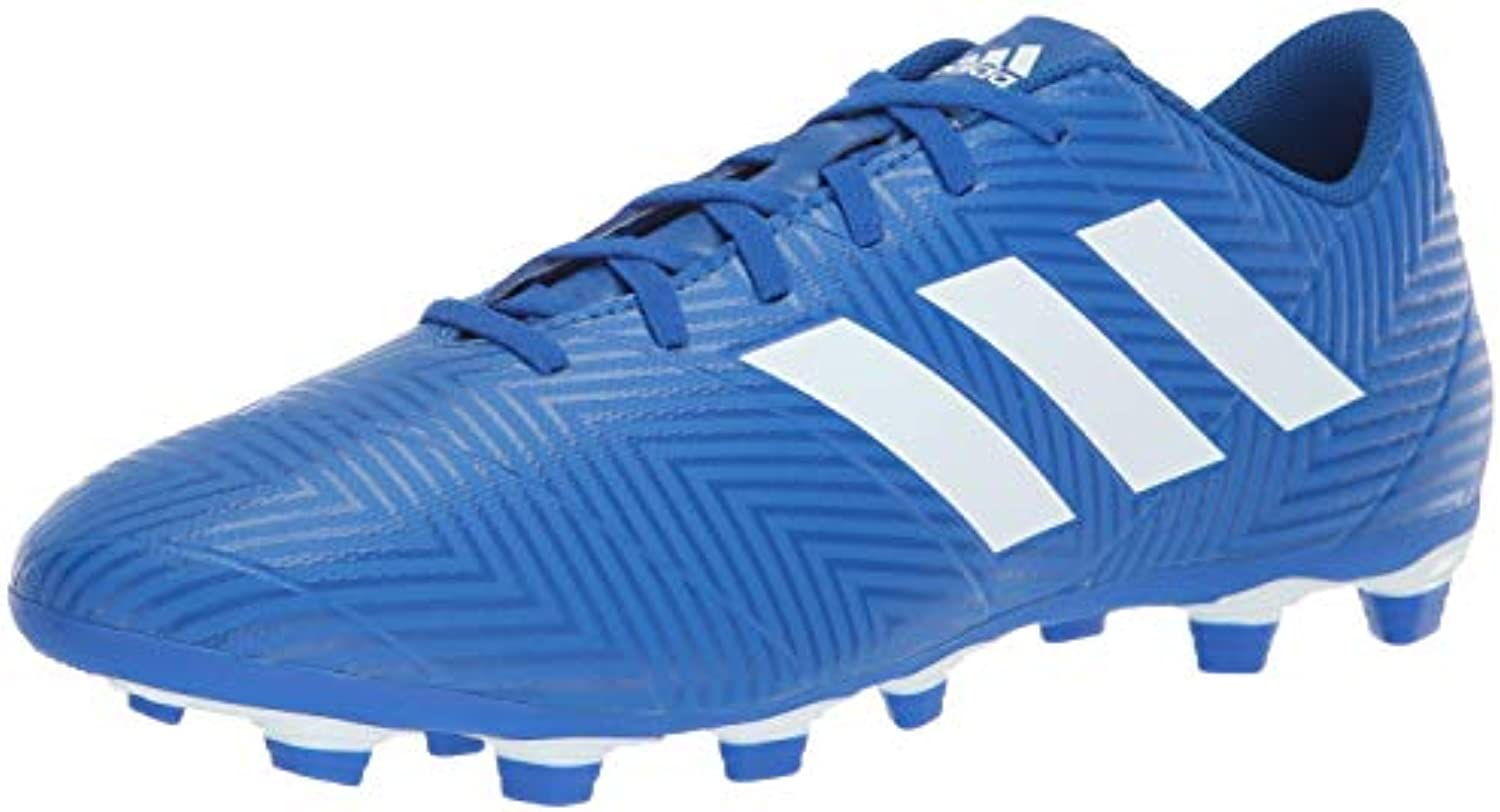 Adidas Men's Nemeziz 18.4 Firm Ground Ground Ground Soccer scarpe bianca Football blu, 11 M US | Buon design