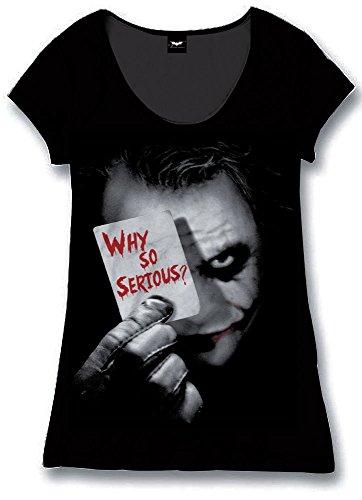Batman The Dark Knight - Why So Serious? Maglia donna nero L