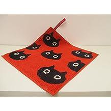 Toalla/manopla en algodón gato naranja