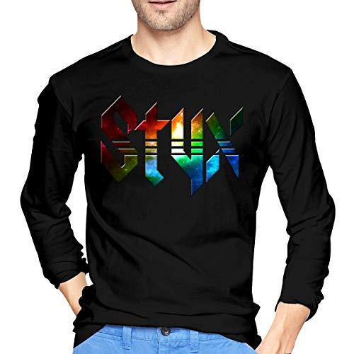 Longsleeves, Langarmshirts, Herren, T-Shirts Hemden, Tops, Men's Styx Cotton Long Sleeve Tee Black -