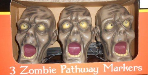 Halloween 3 Zombies Wegmarkierungssensor, aktiviert, helle Stroboskop-Lichter und gruselige Geräusche