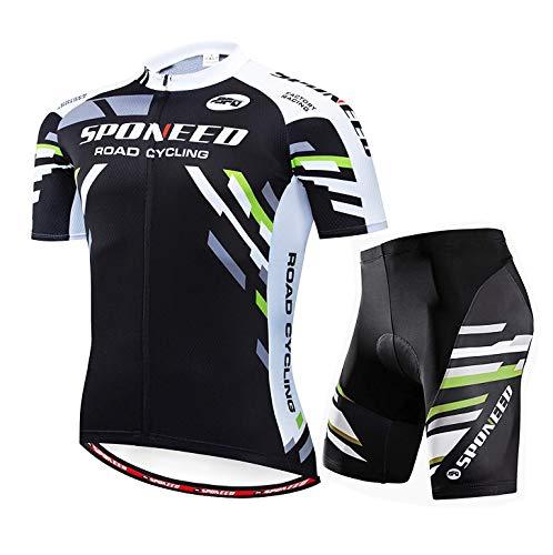 sponeed radtrikot setsponeed fahrradbekleidung hosen jacken radfahren shorts asien asien xxl = us x-large grün schwarz -