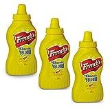 CMC French S Classic Yellow Mostarda, 3 confezioni di Senape americana (3 x 226 grammi)