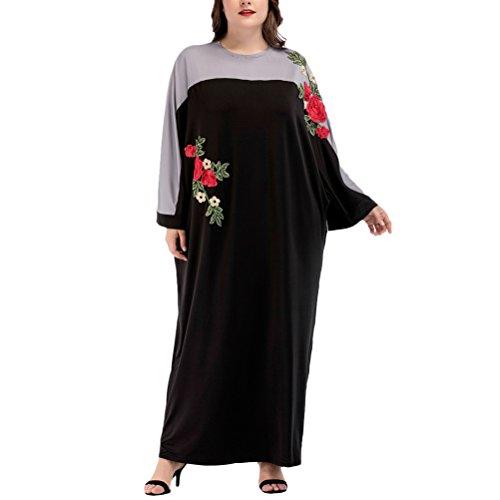Zhuhaitf Elegante übergroße Boho Stil Türkische Kaftans Kaftan Kleid Abaya für Frauen Islamische Kleidung Lange Mode