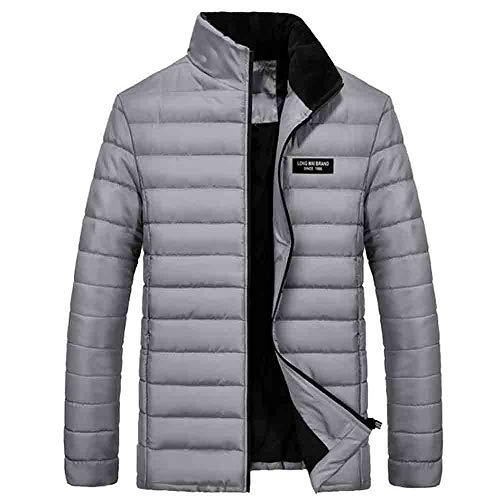 drykorn lederjacke KPPONG Herren Winterjacke,Sportliche Jacke Wasserabweisend Winddicht Solid Thicken Warm Lange M-XXXXL Grau Medium