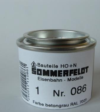 Sommerfeldt 086 86 Oberleitung H0 HO N TT Farbe betongrau RAL 7023 für Masten