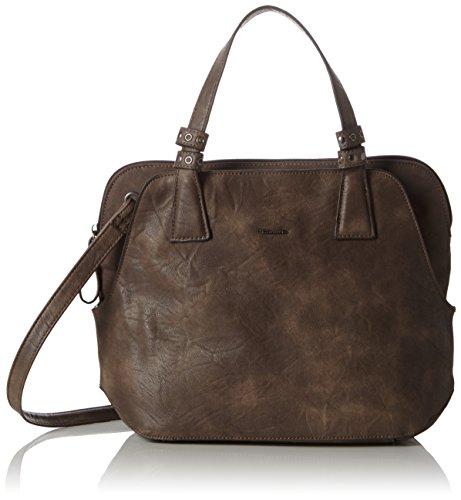 Tamaris Damen Franky Handbag Henkeltaschen, Braun (Mocca Comb), 44x24x13 cm