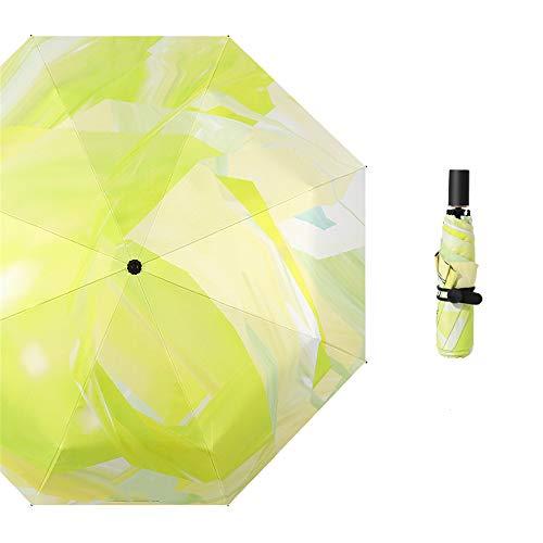 LYJZH Reiseregenschirm - Kompakter windfester Regenschirm - sehr leichtes und faltbares Design Regenschirm Falten Regen und Regen Dual-Use-Sonnenschutzschirm Farbe3 100cm