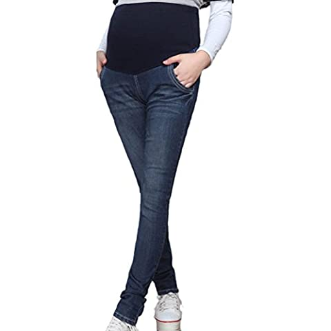 Zhhlaixing Pregnant Women Comfortable Belly Jeans Pants Jeans Slim Fit Pencil Pants Fashion grossesse