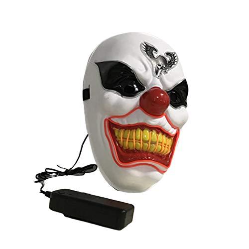 Clown Maske, Gruselige Clown Maske Für Karneval Fasching Fastnacht Party, LED Masken Glow Gruselige Maske Light Up Cosplay Maske Light For Party Festival ()