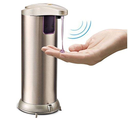 Bosdontek Automatische Touchless Edelstahl-Auto-Seifenspender mit wasserdichtem Boden