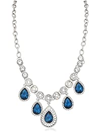 Vk Jewels Wedding Collection Silver Brass Alloy Necklace Set For Women Vknks1489R