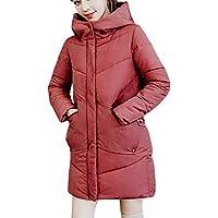 Yvelands Ofertas de liquidación Mujer Abrigo de Abrigo de Invierno Abrigo con Capucha Algodón Acolchado Chaqueta Outwear Top Blusa