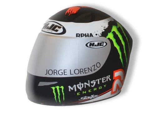 HJC miniatura Moto Casco Hucha/Coin Saver–Lorenzo Monster Energy Diseño