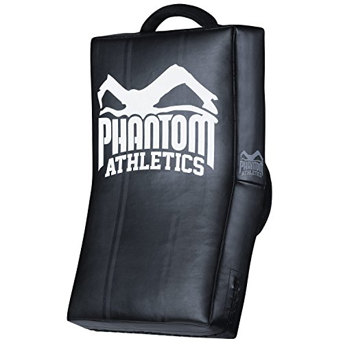 "Phantom Athletics Kickshield ""High Performance\"" - Black - Muay Thai Boxen MMA Kampfsport Kick Pratzen Trittpolster"