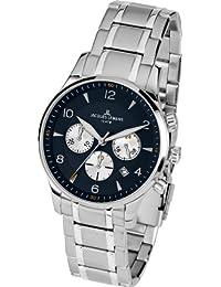 Jacques Lemans 1-1654K - Reloj de pulsera hombre, acero inoxidable, color plateado