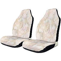 Sobre-mesa Autositzbezüge Beige Peach Marble Crack Building Protector Kissen Universal Bucket Sitzbezug Passend für die meisten Autos