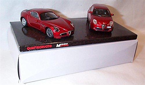 mondo-motors-quattroruote-red-2-piece-alfa-romeo-car-set-143-scale-diecast-model