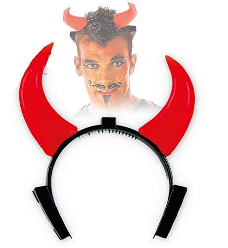 KarnevalsTeufel leuchtende Teufelshörner, Horror, Devil, Satan, Teufel, Kopfschmuck, Halloween