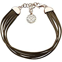 Pedro Duran 00506527 pulsera familia marrón platino rosa