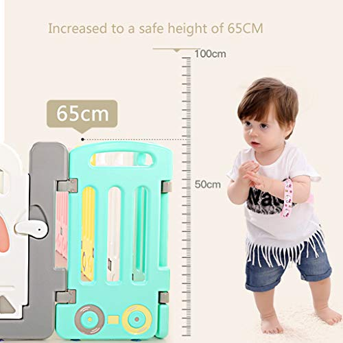 LIUFS-Playpens Children's Fence Safety Home Indoor Outdoor Sports Boy Ball Toy Child Girl Crawling Mat Candy Color (Size : 28+2 fence)  LIUFS-Playpens