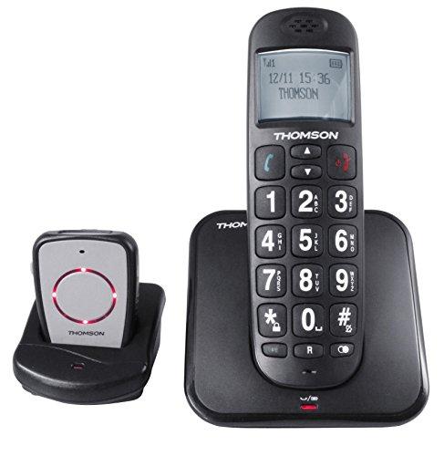 Thomson Conecto 300 - Teléfono DECT, Color Negro