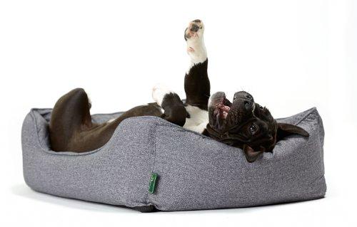 Hunter 61430 Hundesofa Boston, M, Aussenfläche – 85 x 65 x 24 cm, Innenkissen – 67 x 47 cm, grau - 4