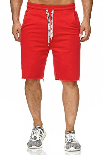 Red Bridge Herren Short Kurze Hose Sweatpant Jogginghose Basic Rot S