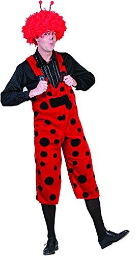 Marienkäfer Kostüm Latzhose mit Punkten, M, Rot (Marienkäfer Schminken Für Halloween)